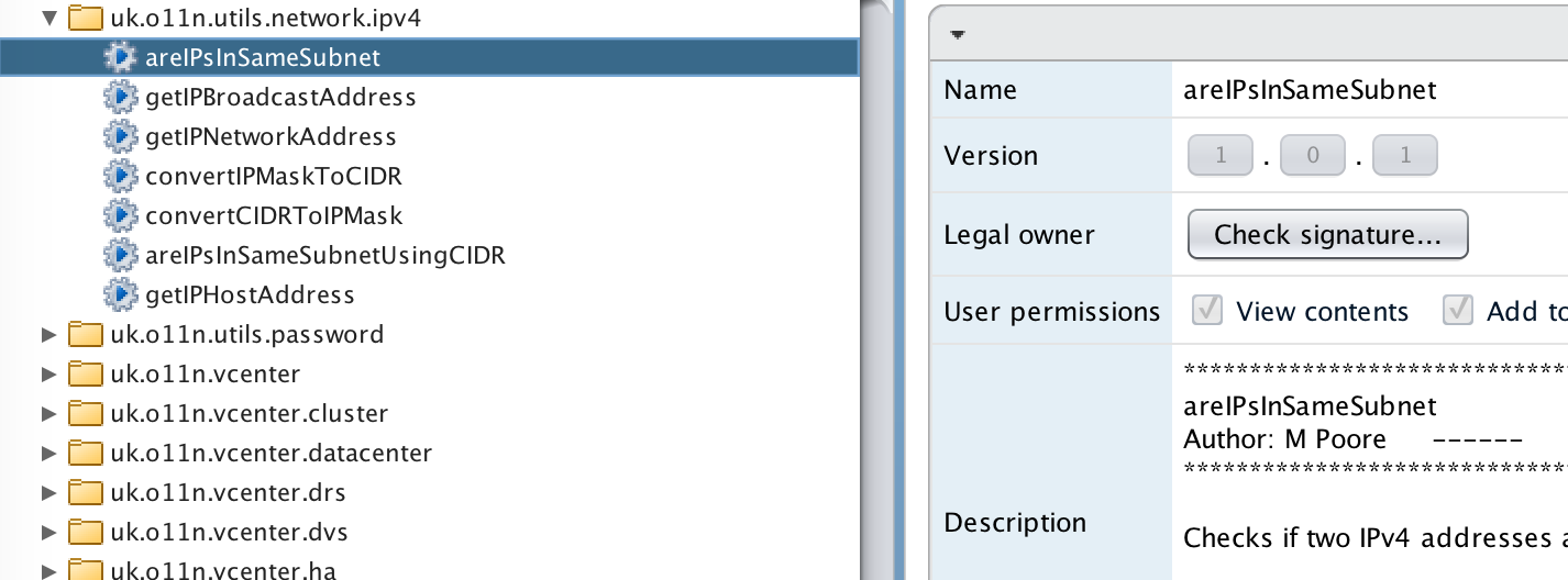Some vRO IP address actions – @mpoore