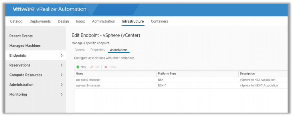 Associate NSX-T and NSX-V Endpoints with one vCenter