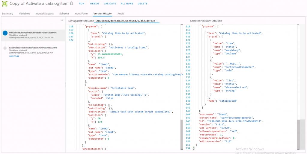 The workflow on the left shows the added scriptable task